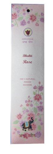 Bhakti Rose - 21 Stck indische Premium Räucherstäbchen, Marke: Amrayoga