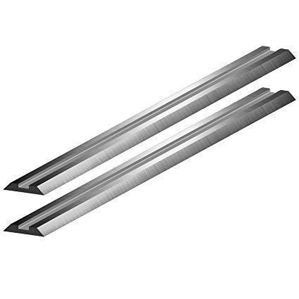 Set de dos cuchillas reversibles de acero rápido de 10-82 mm para cepilladoras...