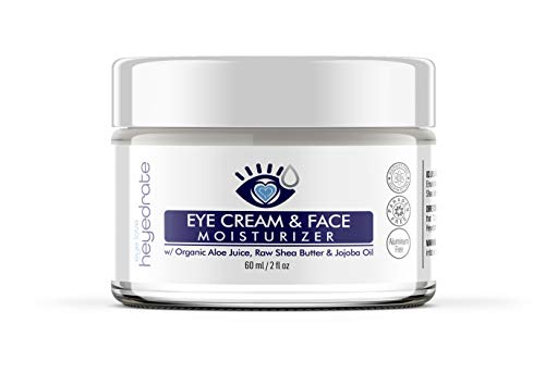 Eye Cream and Face Moisturizer with Aloe Juice, Shea Butter & Jojoba Oil | Anti-Aging Eyelid and Facial Moisturizer to Reduce Dark Spots, Dark Circles & Wrinkles