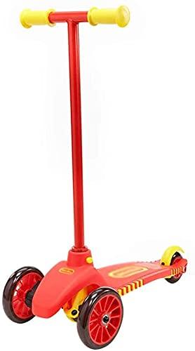 WYQ-BB patinetes para niños Scooter, Scooter para niños con 3 Ruedas, con un límite de Peso de 66 Libras, Volante inclinable, es el Mejor Scooter de Regalo para niños y niñas