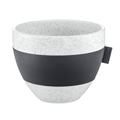 Koziol Thermotasse Aroma M, Thermobecher, Tasse, Trinkbecher, Thermoplastischer Kunststoff, Organic Deep Grey, 270 ml, 3571673