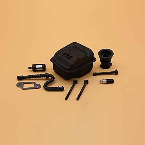 Silenciador de escape Manguera de aceite combustible Colector de admisión Juego de kits premium duraderos para Stihl MS 023025 MS230 MS250 Piezas de reparación de motosierra de jardín Accesorios 11231