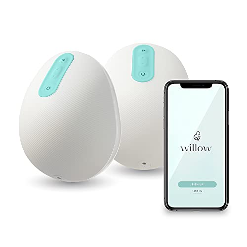 Willow Pump Wearable Breast Pump | Quiet & Hands-Free, Portable, in-Bra Double Electric Breast Pump with App | The Only Pump That Lets You Pump in Any Position (24mm)