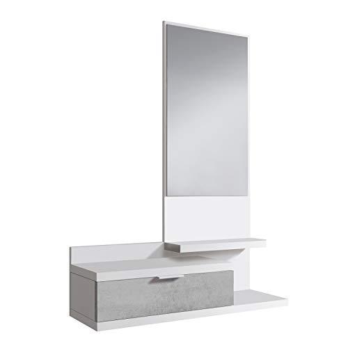 Habitdesign 0L6744A - Recibidor con Cajon y Espejo, Mueble de Entrada, Color...