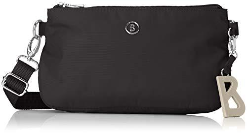 Bogner Damen Verbier Kata Shoulderbag Shz Schultertasche, Schwarz (Black), 7x14x23 cm