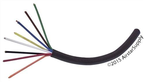 Southwire 49275142 50 18//5 Multi-Conductor Sprinkler Wire for Outdoor use Black