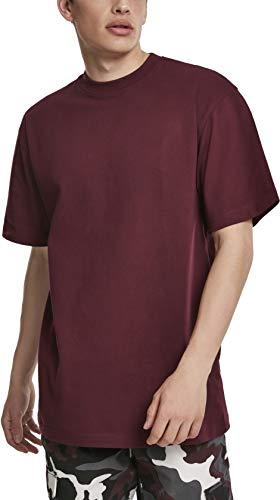 Urban Classics Tall Tee T-shirt Homme - Rouge (Redwine 02243) - XXXX-Large