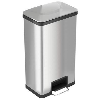 iTouchless SoftStep Abfalleimer mit Geruchsfilter, Edelstahl, 68 Liter, für Küche, Büro, Zuhause, geräuschlos und sanftes Öffnen/Schließen, platzsparend