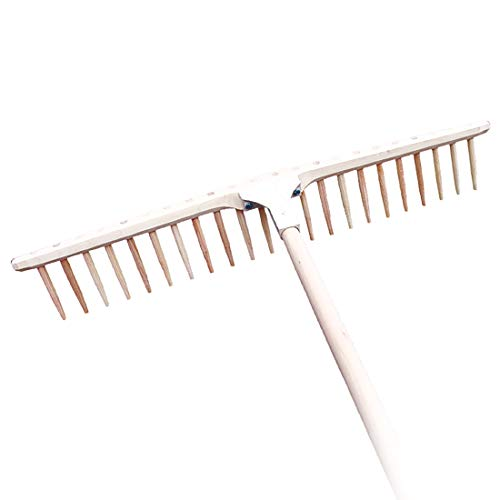 4betterdays.com NATURlich leben! Heurechen/Holzrechen aus hochwertigem Lindenholz - 67 cm breites Rechenhaupt - 20 Zinken aus Eschenholz - Handarbeit aus Österreich