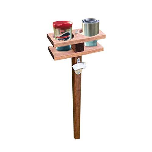 MARIJEE Mesa de vino al aire libre, portátil, mesa de picnic para copas de vino con soporte para botellas regalos para amantes del vino
