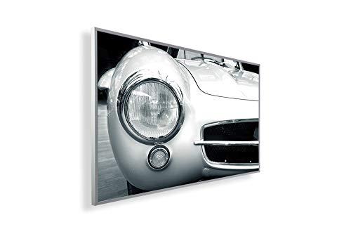 Könighaus Fern Infrarotheizung – Bildheizung in HD mit TÜV/GS - 200+ Bilder - Mit Smart Thermostat + Könighaus APP übers Handy - 450 Watt -243. Pagode Auto Black Edition_WR