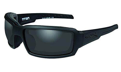 Wiley X Erwachsene Titan Black Ops Schutzbrille/Schiessbrille, schwarz, L-XL