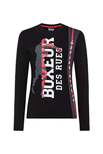 BOXEUR DES RUES - Printed Long Sleeve Tshirt, Uomo, Black, L