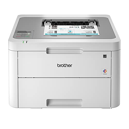 Brother HL-L3210 USB & Wireless Digital Color Laser Printer for Home Business Office - Single-Function: Print Only - 600 x 2400 dpi, 250-Sheet Large Capacity, BROAGE Printer Cable