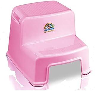 Lama Sam & Friends - Taburetes en dos etapas para niños Escalón para el Baño para Enseñar a Usar el WC a Niños Pequeños y Bebés y Quitarles el Pañal, Banquillo Antideslizante