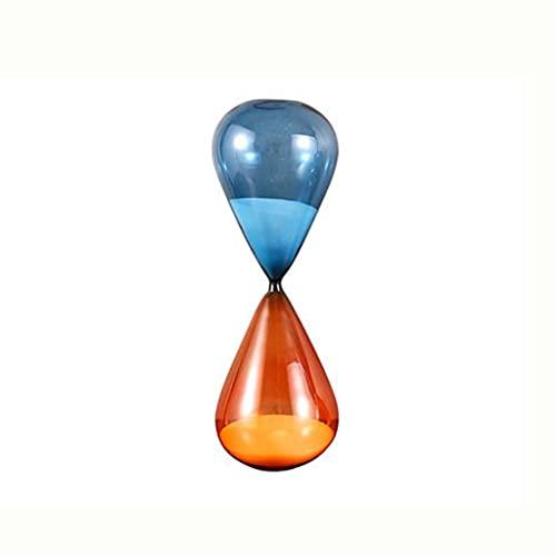 DAGONGREN Colorido Sandglass Bicolor Glass Hootglass Decoración Adornos de decoración 15/30/60 Minute Simple Cuenta Regresiva Temporizador Decoración para el hogar Moderno (Size : 15Minutes)