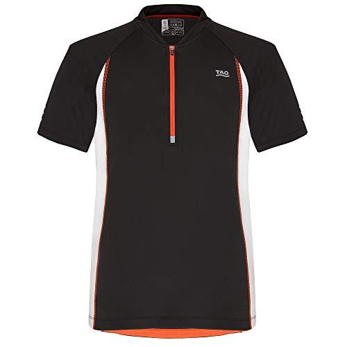 TAO Sportswear M's Colias T-shirt zippé Noir/blanc Taille 46