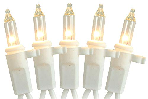 LB International Replacement White Wire Reindeer Lights, 70 Clear - 1/8' Clips