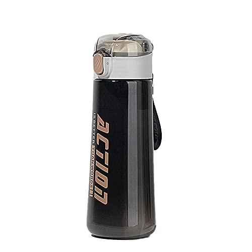Xiaomu Botella deportiva de 0,5 l, [Tritán sin BPA] a prueba de fugas, de plástico, botella de agua para deportes, fitness, universidad, bicicleta, al aire libre, ligera