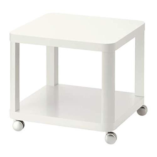 IKEA Tingby 202.959.30 Beistelltisch auf Rollen, Weiß, Größe 48 x 48 cm