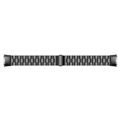 MEIYIN Pulseira de relógio de aço inoxidável adequada para Galaxy Fit SM-R370 três contas