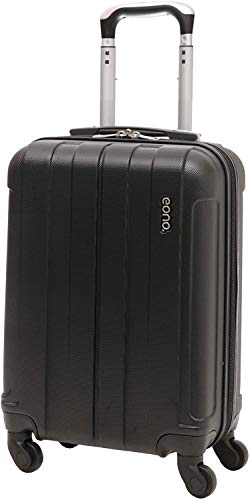 Amazon Brand: EONO Essentials Lightweight 21' ABS Hard Shell Travel Trolley Carry On Hand Cabin Luggage Suitcase with 4 Wheels (Black, 21' Cabin)