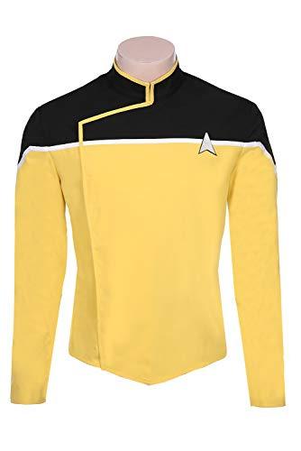Fortunezone Star Trek: Lower Decks Uniform Kostüm Star Trek Cosplay Uniform Herren XL