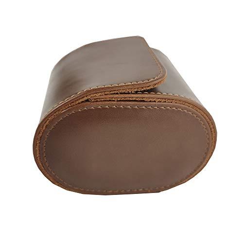 Caja de reloj de cuero de PU, soporte flexible, portátil, regalo individual, organizador de joyas, caja de almacenamiento de reloj para viajes de negocios