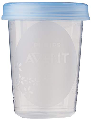 Philips Avent - Set de recipientes para leche materna (5 recipientes 240 ml + 5 tapas)