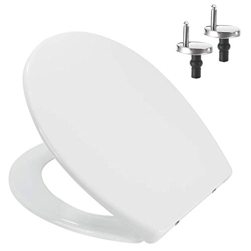 Toilet Seat featuring Soft-Close, Easy Clean, Top Fixing Hinges   OVAL LOO SEAT COVER (Polypropylene Plastic (PP))