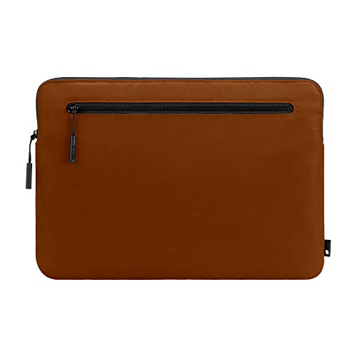 Incase Compact Foam Padded Flight Nylon Sleeve with Accessory Pocket for Most Tablets + Laptops up to 13 inches - Deep Orange