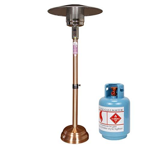ZL Basso Heavy Base Rotonda Patio Heater martellato Bronzo, Alto da Pavimento Propano Liquido Patio Heater Calore Messa a Fuoco Riflettore Shield, 1.4
