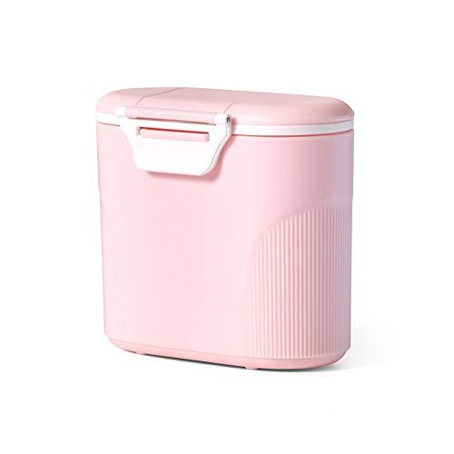 LZYANG Dispenser Per Il Latte In Polvere 600 Ml Dispenser Di Polvere Formula Contenitore Per Latte Artificiale Contenitore Per Latte In Portatile Contenitoredi Latte In Polvere Per Neonati (Rosa)