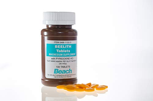 Beelith Tablets Magnesium Supplement with and pyridoxine HCL - 100 Each