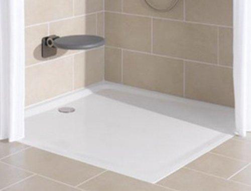 Bette–Duschwanne, rechteckig Farbe Weiß; 90x 90; Design Super Flach (3,5cm)