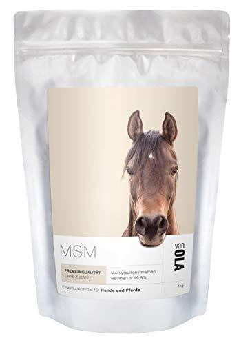 van OLA MSM (Methylsulfonylmethan) für Pferde und Hunde 1kg - Premium Qualität: 99+% Reinheit. Wiederverschließbar.