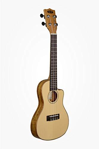 KALA KA tapa de pícea SSTU SMC C ukelele de concierto Spalted incluye bolsa de transporte-de viaje madera de arce
