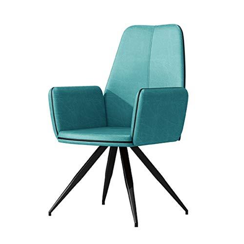 TXXM Silla de comedor, silla de escritorio simple, respaldo creativo, silla de ocio, silla de comedor para adultos (color: azul claro)