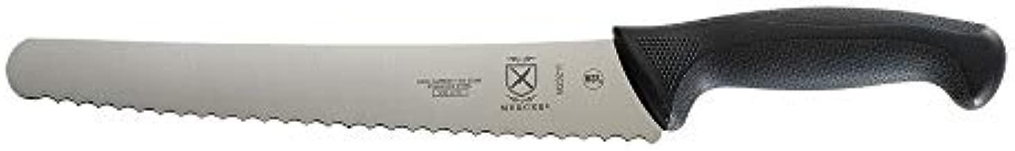 Mercer Culinary M23211 Bread Knife, 10-Inch Left Handed Wavy Edge Wide, Black