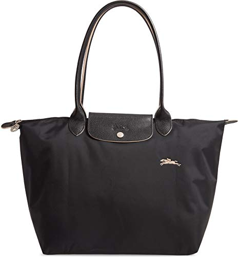 Longchamp 'Large 'Le Pliage Club' Nylon Tote Shoulder Bag, Black