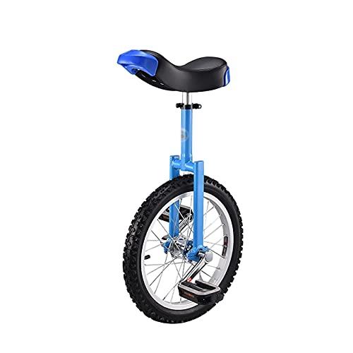 YYLL Monocicli 18'Bambino/Adulto's Trainer's Adult's Unifycle Altezza Regolabile Monociclo Professionale con Supporto Monociclo, 4 Colori Disponibili (Color : Blue, Size : 18 inch)