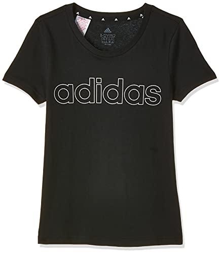 adidas G Lin T, t-Shirt (Manica Corta) Ragazze, Black/White, 7-8A