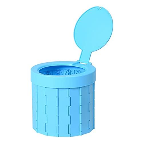 Bomoya - WC portatile per auto, WC e ripostiglio, per esterni, WC in pelle, WC per viaggi, sedile WC per campeggio, escursionismo, lunghi viaggi, ingorghi stradali, anziani
