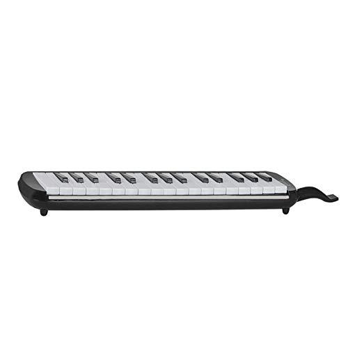 HshDUti Tragbare 32-Tasten-Melodica-Mundharmonika im Piano-Stil Geschenk für Schüler der Klasse Instrument Black