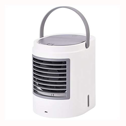 Condizionatore Portatile,Air Cooler,Raffreddatore, Portable Air Conditioner Fan 3 in 1 Personal Desktop ventilatore mini muto purificatore umidificatore aria evaporativo con manico e luci LED for la C