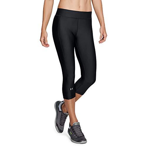 Under Armour Damen HeatGear Armour Capri Sporthose, atmungsaktive Leggings, superleichte Sport Leggings mit Kompressionspassform