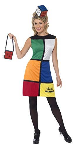 Smiffys-38791M Miffy Licenciado Oficialmente Disfraz del Rubik'S Cube,, Vestido, Diadema y Bolsa, Multicolor, M-EU Tamaño 40-42 (Smiffy'S 38791M)