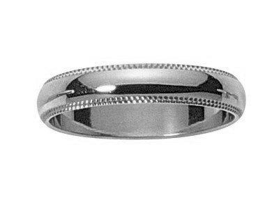 MAh-www.diamants-perles.com-Alliance, matrimonio, oro bianco, 750/1000-18 carati, larghezza: 4 mm, Oro bianco 750/1000, 11, cod. FB208545-G-51