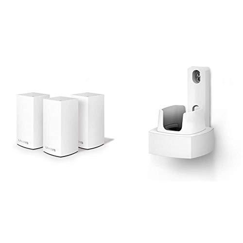 Oferta de Linksys WHA0301 - Accesorios para punto de acceso WLAN, Blanco + Linksys Velop AC3600 - Sistema WiFi Intelligent Mesh para todo el hogar, doble banda, hasta 3.6 Gbps, paquete de 1 nodo  hasta 350 m²