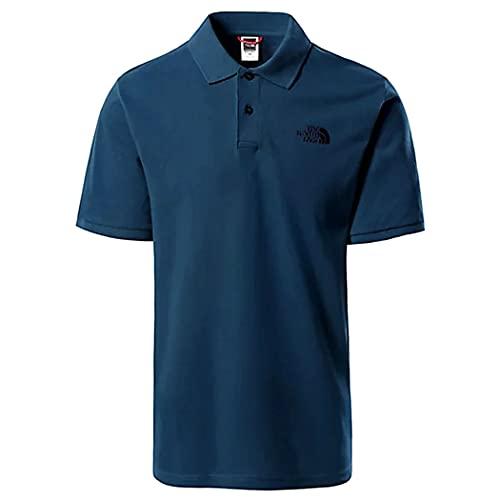 The North Face Men's Polo Piquet T-Shirt, M. Blue, M Uomo